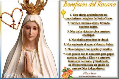 Resultado de imagen para Las bendiciones del Rosario según el Magisterio de los Papas