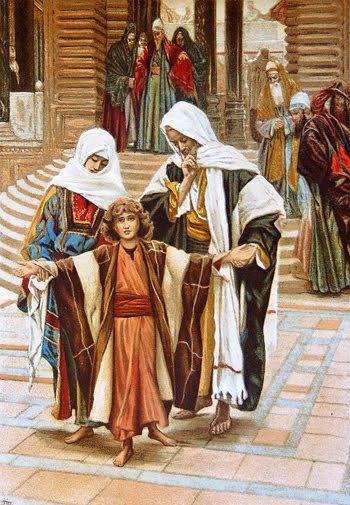MARÍA ANTE LA MANIFESTACIÓN DE JESÚS, ADOLESCENTE , EN EL TEMPLO ...