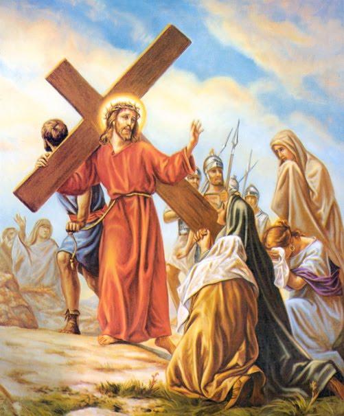 Resultado de imagen de Octava Estación: JESÚS CONSUELA A LAS MUJERES DE JERUSALÉN
