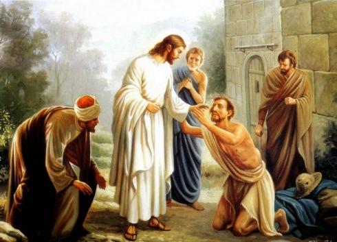 Resultado de imagen de Jesús vio al pasar a un hombre ciego de nacimiento