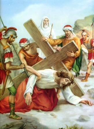 Resultado de imagen de Séptima Estación: JESÚS CAE POR SEGUNDA VEZ