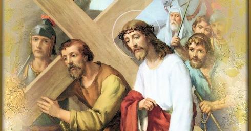 Resultado de imagen de Quinta Estación: JESÚS ES AYUDADO POR EL CIRENEO